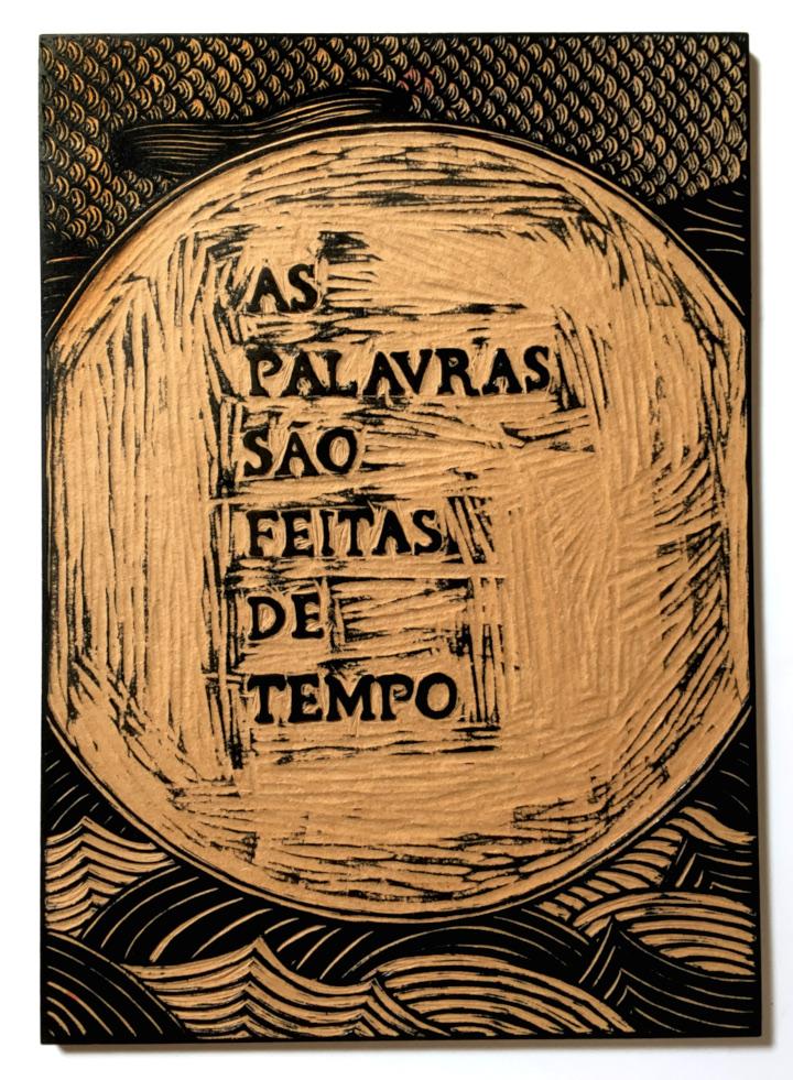 """Florencia Lastreto - Matriz do cartaz """"As palavras são feitas de tempo"""""""