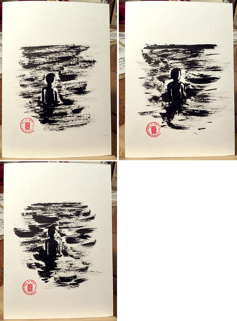 Florencia Lastreto tinta sobre papel