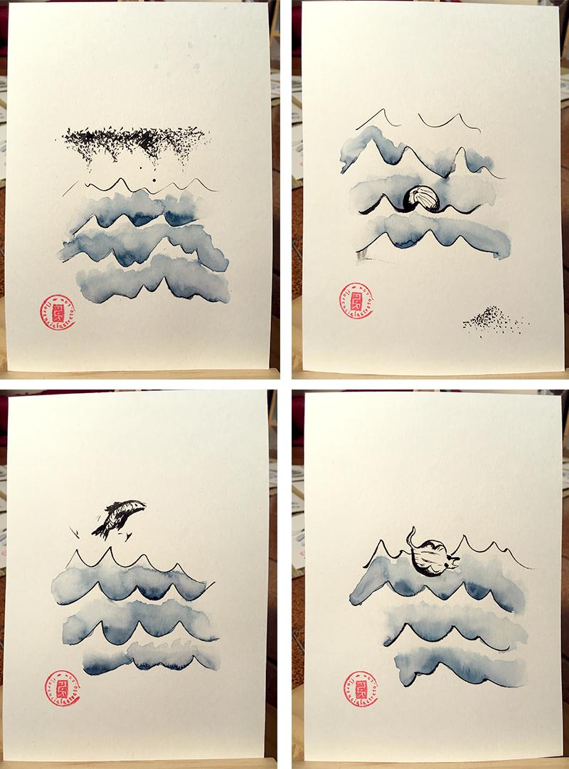 Florencia Lastreto - tinta y acuarela sobre papel